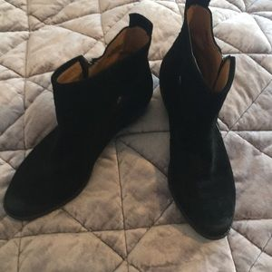 Nine west Womens black suede leather boots size 10